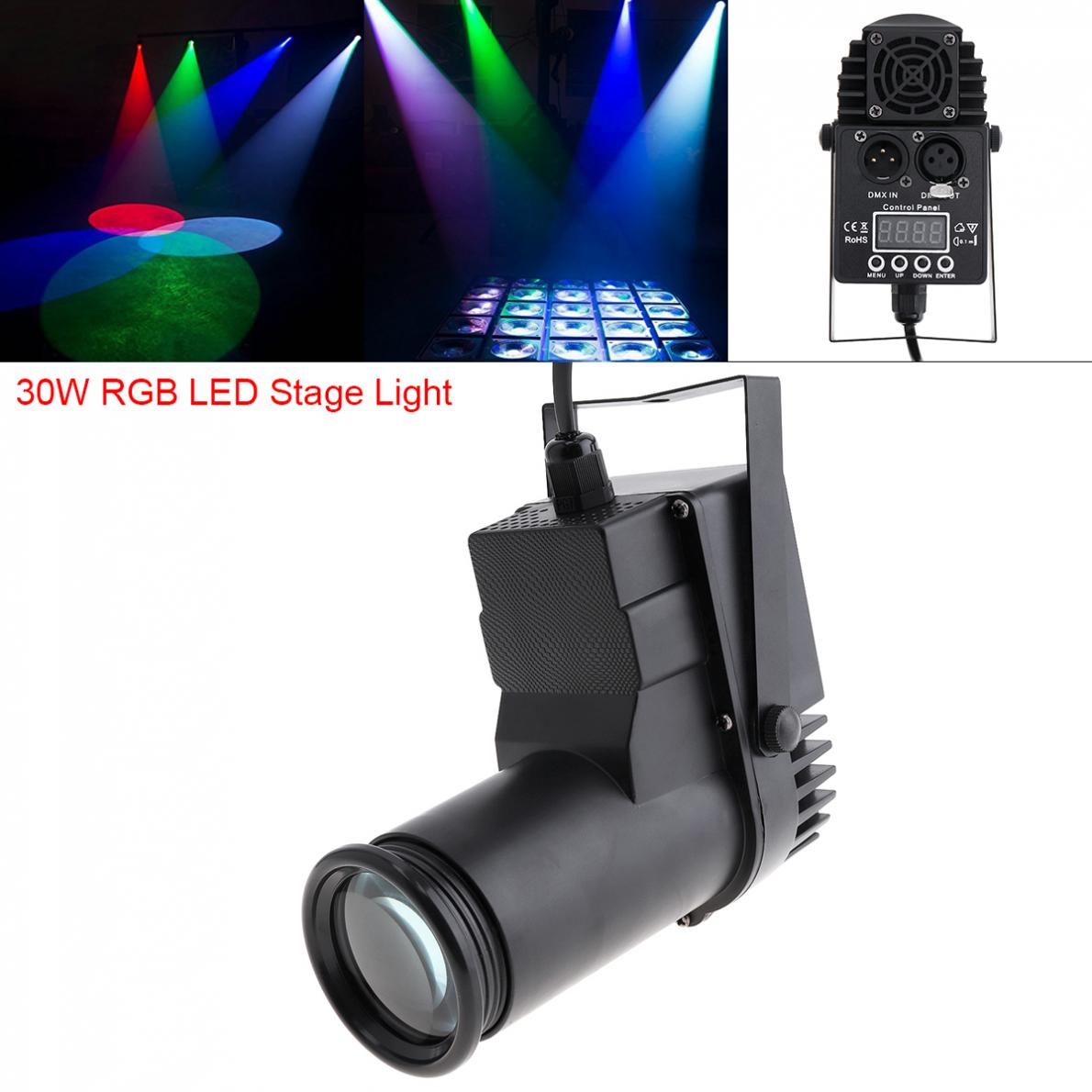 30W RGBW 4 In1 DMX Full Color LED Spotlight Stage Light Spot Beam 6Channel Atmosphere Light With Voice Control For Bar Stage KTV