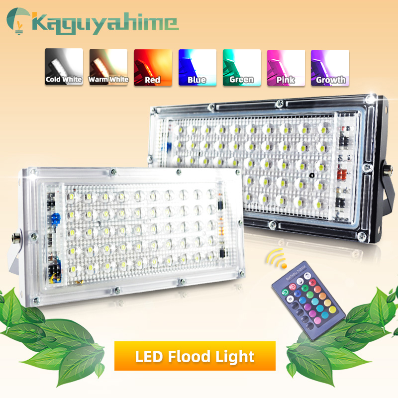 Kaguyahime LED Floodlight 50W Spotlight 220V Waterproof IP65 Street Lamp Square LED Reflector Focus Light Outdoor Flood Light