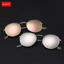 1pc Mode Retro Runde Sonnenbrille Bunte Objektiv Metall Rahmen Frau Männer Sonnenbrille Runde Gold Anti-UV400 Großhandel