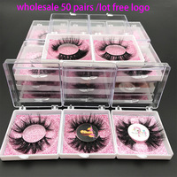 MIKIWI 5D Real Mink Eyelashes Wholesale Custom Packaging Label Makeup Dramatic Natural Long Resuable Mink Eye Lashes Extention