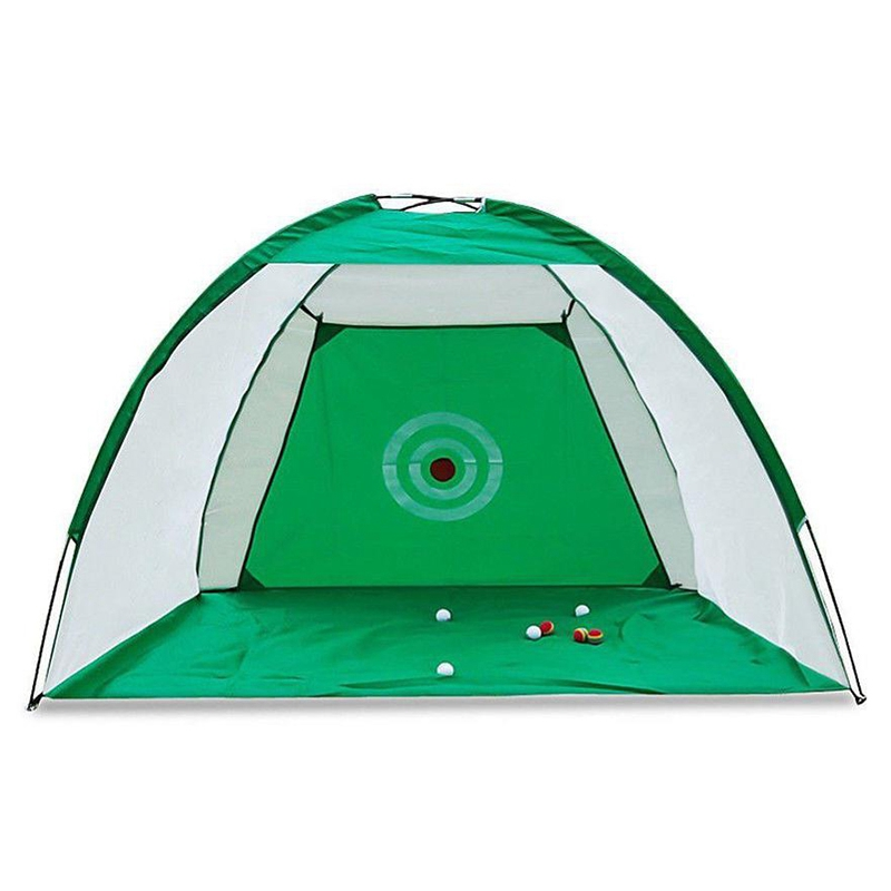 Golf Hitting Net Outdoor Sports Portable Practice Cage Indoor Garden Trainer 2M