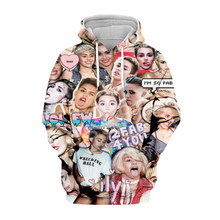 Tessffel Miley Cyrus emoji Tracksuit casual Harajuku 3D Printed Hoodie/Sweatshirt/Jacket/shirts Mens Womens hiphop funny style-8