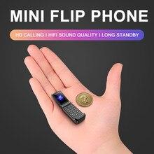 Smallst Flip Handy Ulcool F1 32MB + 32MB MTK6261 GSM 300mAh Bluetooth Mini Backup Tasche Tragbare Mobile telefon Geschenk für Kind