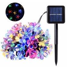 LED Solar Light String Garden Cherry Blossom Waterproof Wedding Outdoor Decor