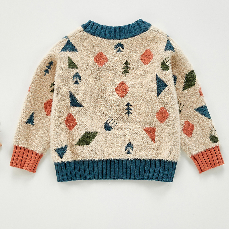 Autumn Baby Girls Boys Knitted Sweater Toddler Girls Boy Casual Cartoon Warm Cotton Sweaters Coat Kids Pullovers Sweaters 3