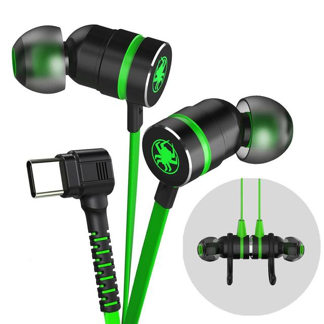 משחקי אוזניות סוג C G20 hammerhead בס אוזניות עם מיקרופון משחקי אוזניות עבור PUBG גיימר לשחק 2.2M wired אוזניות עבור טלפון