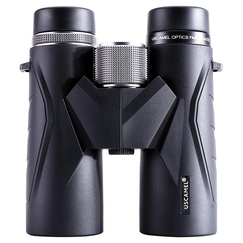 USCAMEL 8x42 BAK4 Binoculars Waterproof Telescope Professional Hunting Optics Camping Outdoor Bird Watching with Strap Carry Bag