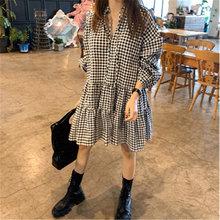 Классическое черно белое клетчатое мини платье в стиле ретро
