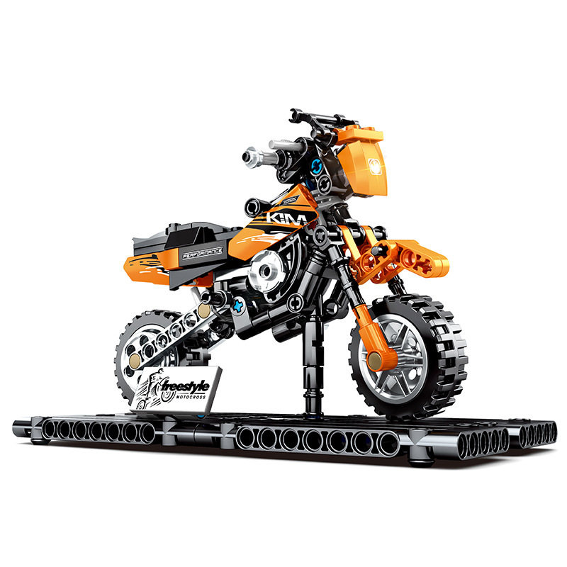 TOY GIFT Technic City Motocross Bike With Box Building Blocks Toys Bricks Model