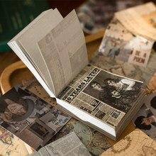 Yoofun 165 folhas poster do vintage plantas notas pegajosas almofada de memorando diário flocos estacionários scrapbook decorativo material do vintage papel