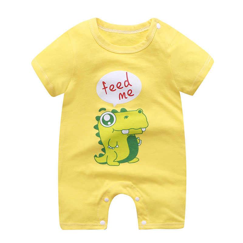 Pelele de bebé de verano, mono infantil de dibujo animado de nuevo estilo, pijama de bebé de sastre recién nacido, ropa de manga corta para niños y niñas A0150