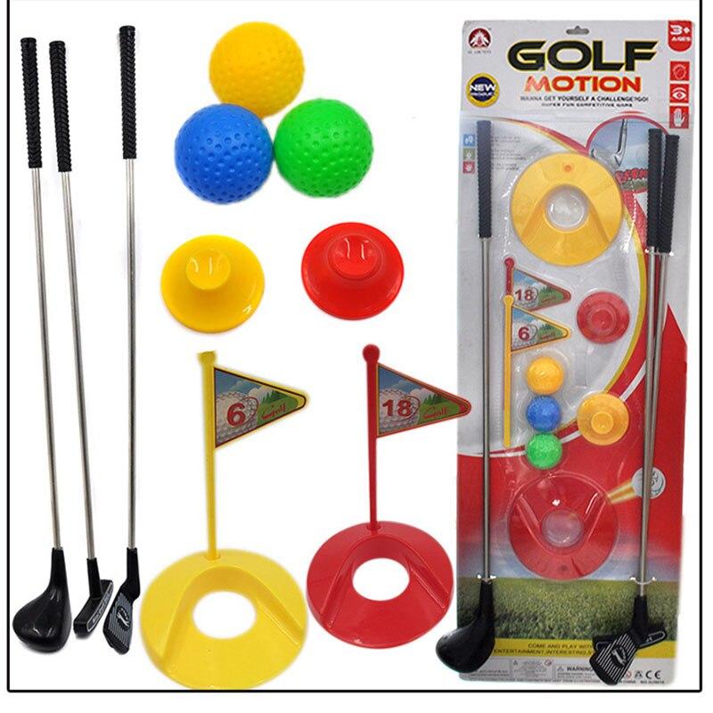 Açık Mini komik Golf oyuncak seti çocuklar öğrenme aktif erken eğitim spor oyunu egzersiz topu oyuncaklar erkek ve kız oyun topu oyuncak