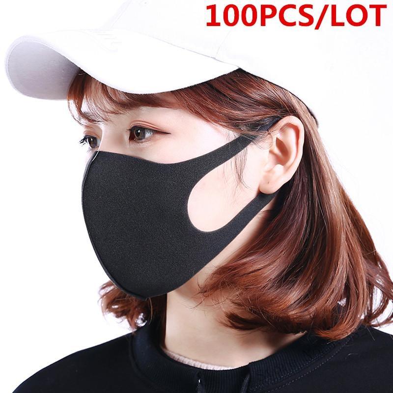 100 Pcs/Lot Anti Dust Face Mouth Cover PM2.5 Mask Respirator Dustproof Washable Reusable Comfy Masks