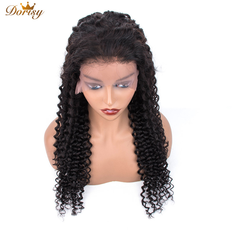 Curly Human Hair Wigs Pre Plucked With Baby Hair Remy Peruvian Wigs 13x5 Lace Front Human Hair Wigs For Black Women Dorisy