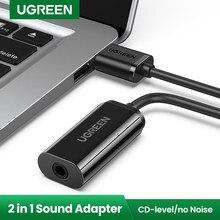 UGREEN Soundkarte Audio Interface USB zu 3,5mm Externe Soundkarte für Computer PS4 Headset Computer Zubehör USB Sound karte
