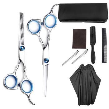 1/5/9 PCS Professional Hairdressing Scissors Kit Hair Cutting Scissors Hair Scissors Tail Comb Hair Cape Hair Cutter Comb rimei abs band top comb tail comb set brown 2 pcs