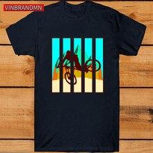 Camiseta Vintage MTB colores para hombre, camiseta de moda MTB para ciclismo de montaña, camiseta BMX Dirt Bike ciclismo, camiseta de mejor regalo