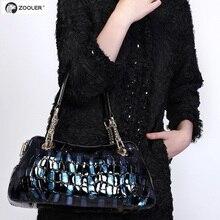 ZOOLER  For Crocodile shoulder bag leather womens handbag fashion bags messenger