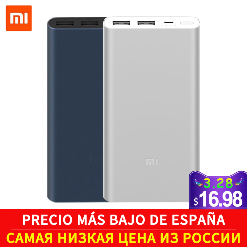 New xiaomi mi power bank 2s 10000 mAh Power Bank Quick Charge Power Bank 10000mAh 18W USB Output External Battery Pack F22|external battery pack|external battery|mi power bank - title=
