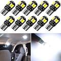 10 шт. T10 светодиодная лампочка для салона автомобиля Canbus для VW Golf Polo Passat Scirocco Tiguan для Skoda Octavia сиденье