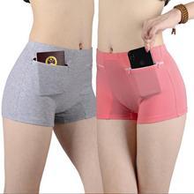 Противоугонные трусики женские с высокой талией двойная молния двойной карман защитные штаны