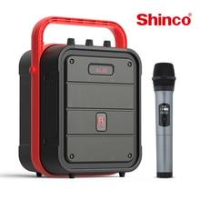 سماعات كاريوكي من Shinco لاسلكية بلوتوث TWS PA نظام محمول هاي فاي مركز الموسيقى مع ميكروفون مدعوم راديو FM AUX