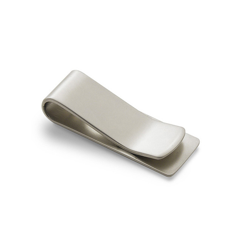 1PC Silver Stainless Steel Metal Money Clip Bookmark Folder Simple Dollar Cash Clamp Holder Wallet For Men Women Self Defense