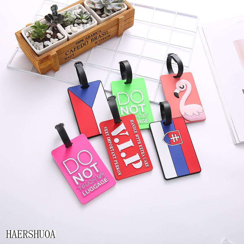 Creative Travel Accessories Luggage Tag Luggage Brand Silicone Suitcase ID Kana Holder Portable Label Luggage Tag Label