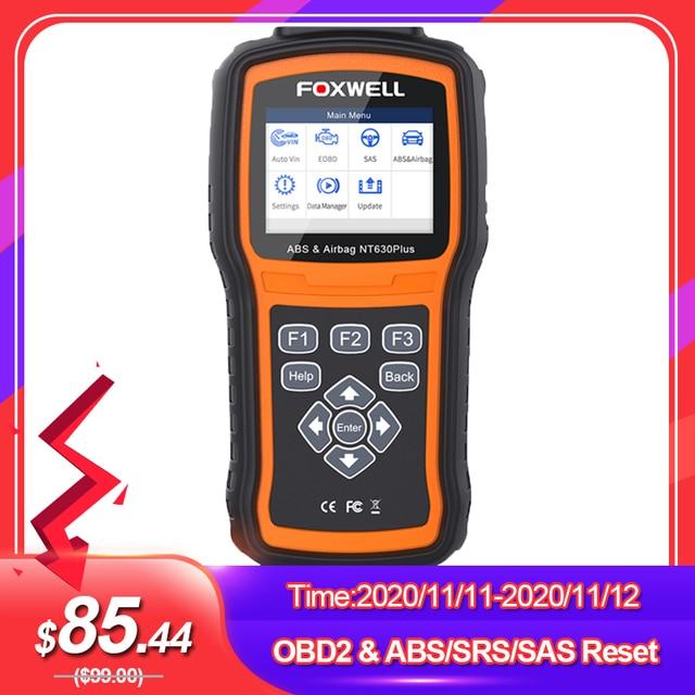 Foxwell NT630 Plus OBD2 Automotive Scanner Engine Check ABS SRS Airbag SAS Reset Crash Data ODB OBD 2 Auto Car Diagnostic Tool