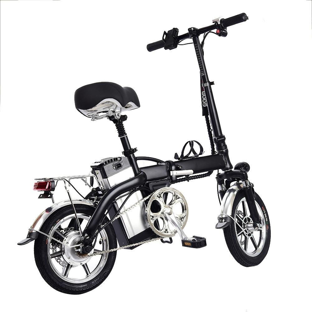 Mini Electric Bike Two Wheels Electric Bicycle 14 Inch 48V Adults Portable Foldable Electric Bicycle With Seat
