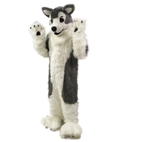 Gray Wolf Husky Dog Fursuit Mascot Costume Cosplay Party Dress Outfits Clothing Promotion Carnival Halloween Xmas Easter Adult