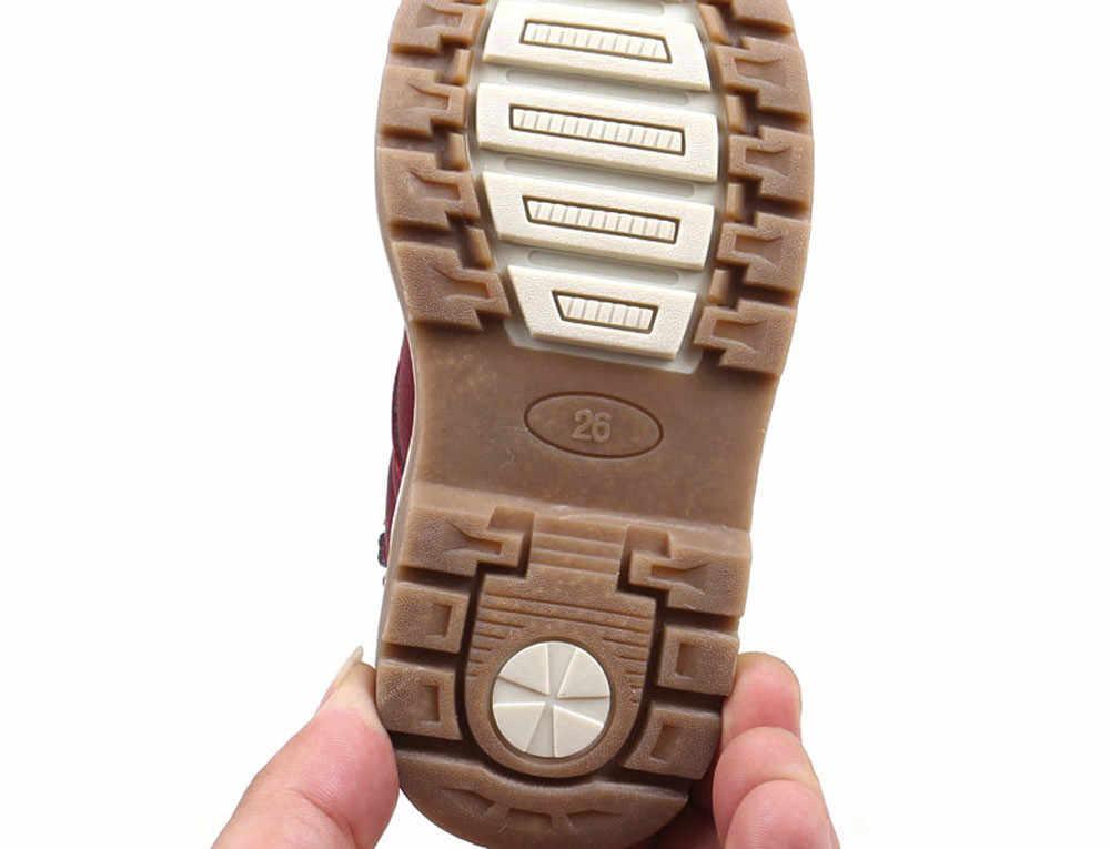 Kinderen Warm Jongens Meisjes Sneaker Laarzen Kids Baby Casual Schoenen Anti-Slip Mode Zip Soft Pu Leer Ademend Boot baby