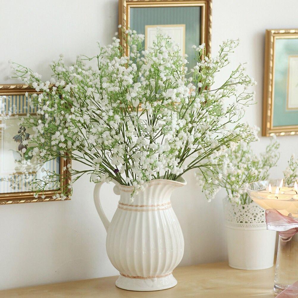 Artificial Fake Babys Breath Gypsophila Silk Flowers Bouquet Home Wedding Party Decorations Decor