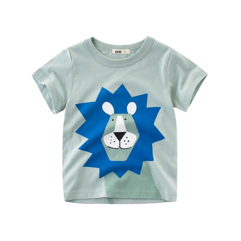 Boys & Girls Cartoon T-shirts Kids Dinosaur Print T Shirt For Boys Children Summer Short Sleeve T-shirt Cotton Tops Clothing 3