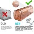 Conveniente rato armadilha abs roedor 2 pçs acessórios reutilizáveis ratinhos coletor eficaz mousetrap pragas ferramentas prop captura casa