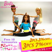 Original Barbie Joint Movement Doll Gymnastics Yoga Dancer Soccer Player Barbie Doll Children Educational Toy Girl Gift FTG80-in Dolls from Toys & Hobbies on AliExpress