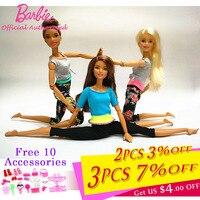 Original Barbie Joint Movement Doll Gymnastics Yoga Dancer Soccer Player Barbie Doll Children Educational Toy Girl Gift FTG80