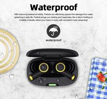 Bluedio Particle wireless earphone bluetooth 5.0 waterproof earbuds wireless headphone sport tws headset with charging box