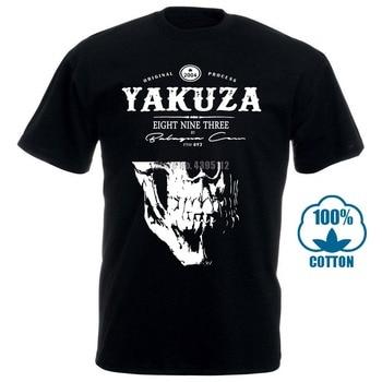 цена New Fashion Trend Yakuza T Shirt 1 Mens Girocollo Maniche Basa Casual Top Abbigliamento Di Moda Fashion T Shirt 100% Cotton онлайн в 2017 году