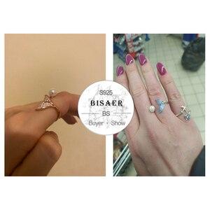 Image 2 - [Kopen 4 Meer Besparen 5%] Bisaer 100% 925 Sterling Zilver Vrouwelijke Mermaid Tail Verstelbare Vinger Ringen Voor Vrouwen bruiloft Engagement