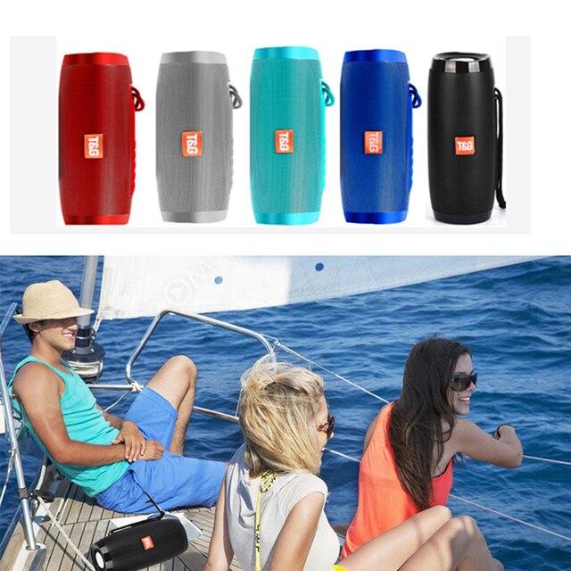 Portable Speaker Bluetooth-compatible Column Wireless  Speaker Outdoor Bass HIFI TF FM Radio soundbar with LED caixa de som 2