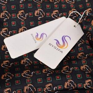 Image 5 - [BYSIFA] New Maroon Male Silk Scarf Tie Thicken Fashion Top Grade 100% Silk Men Neck Scarf Winter Long Scarves Cravats 165*24cm