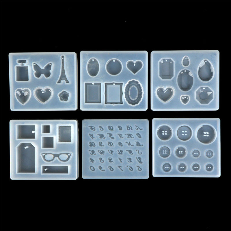 1pc DIY Silicone Pendant Mold Making Jewelry For Resin Necklace Mould Craft Tool