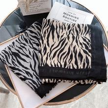 Роскошный зимний Леопардовый шарф с принтом животных, Змеиный платок с принтом зебры, мягкие пашмины, Шали Обертывания, пончо и накидки, Роковая женщина