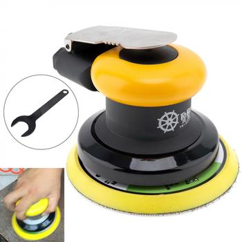 5 Inch Pneumatic Air Sander 12000RPM Random Orbital Sander Car Polisher Air Sanding Machine Tools with Pad Wrench