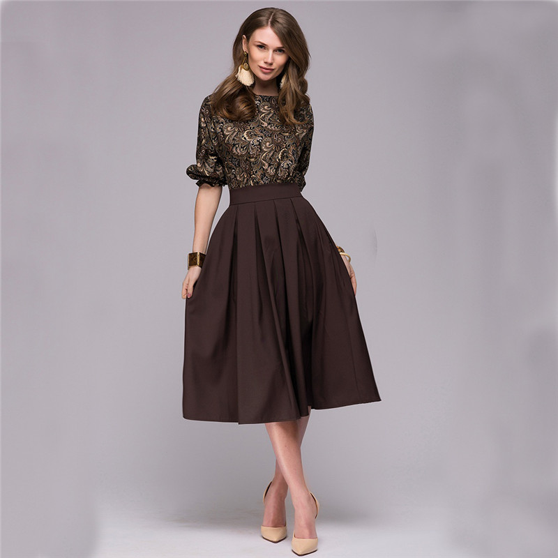 Floral Printed Dress 2019 New Fashion Women Autumn Spring Christmas Casual Elegant Prom Long Dresses Fall Party Elegant Vestidos