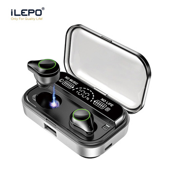 ILEPO T10 Bluetooth Earphone for Video Game Earbuds for Mobile Phone Wireless 20-20000Hz HiFi Earphone