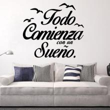 Modern Spanish Sentence Wall Art Decal Wall Art Sticker For Office Room Murals vinyl Stickers Bedroom Wall Decals