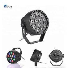 Factory Direct Sale Christmas Light DMX Control New Mini Flat LED Par Light 12Pcs RGBW Plastic DJ Stage Light