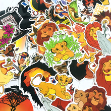 50pcs The Lion King Anime Cartoon Stickers Toy Luggage PVC Waterproof Sticker Motorcycle and Notebook